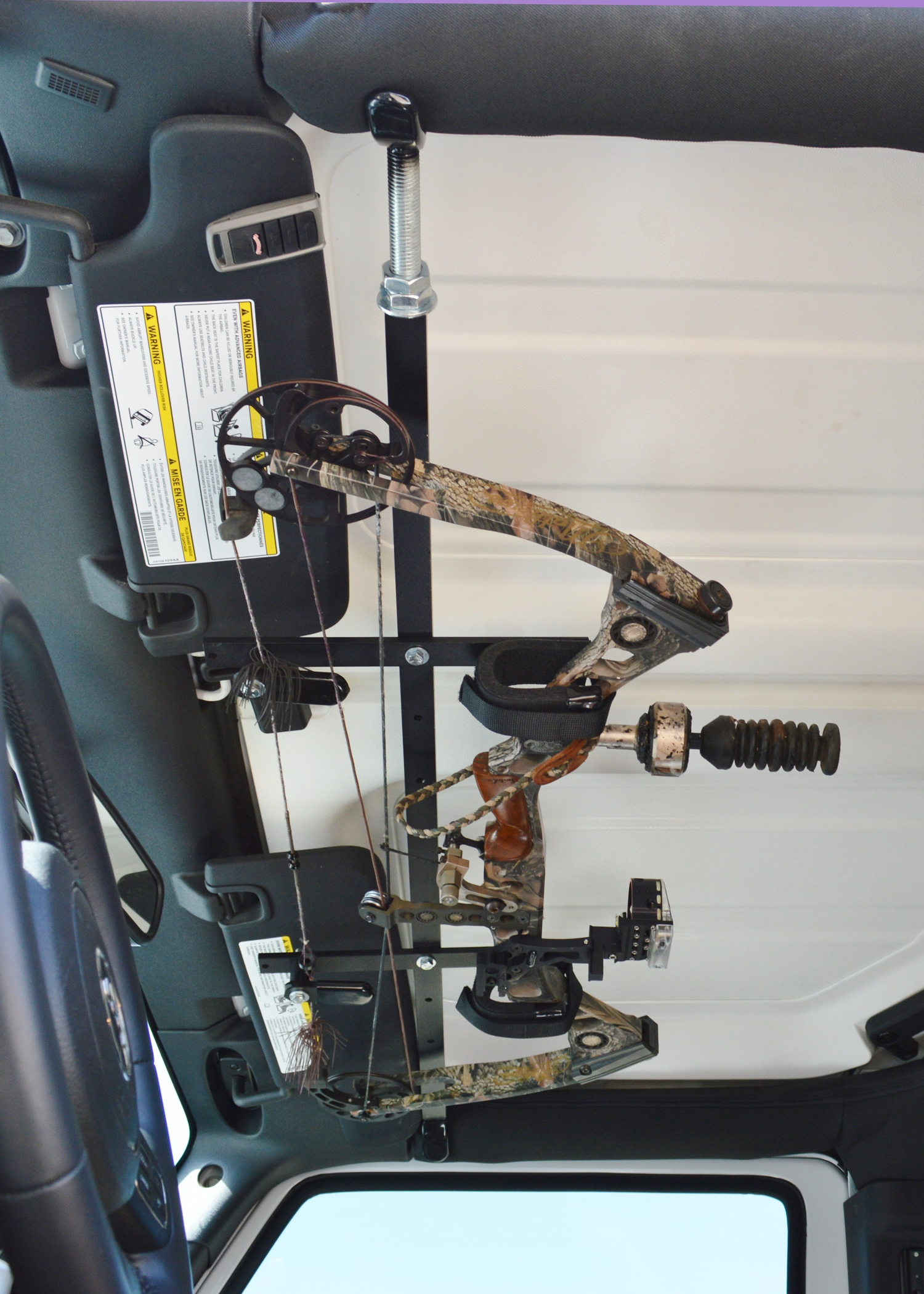 Quickdraw Overhead Bow Rack For Jeep Wrangler Great Day Inc