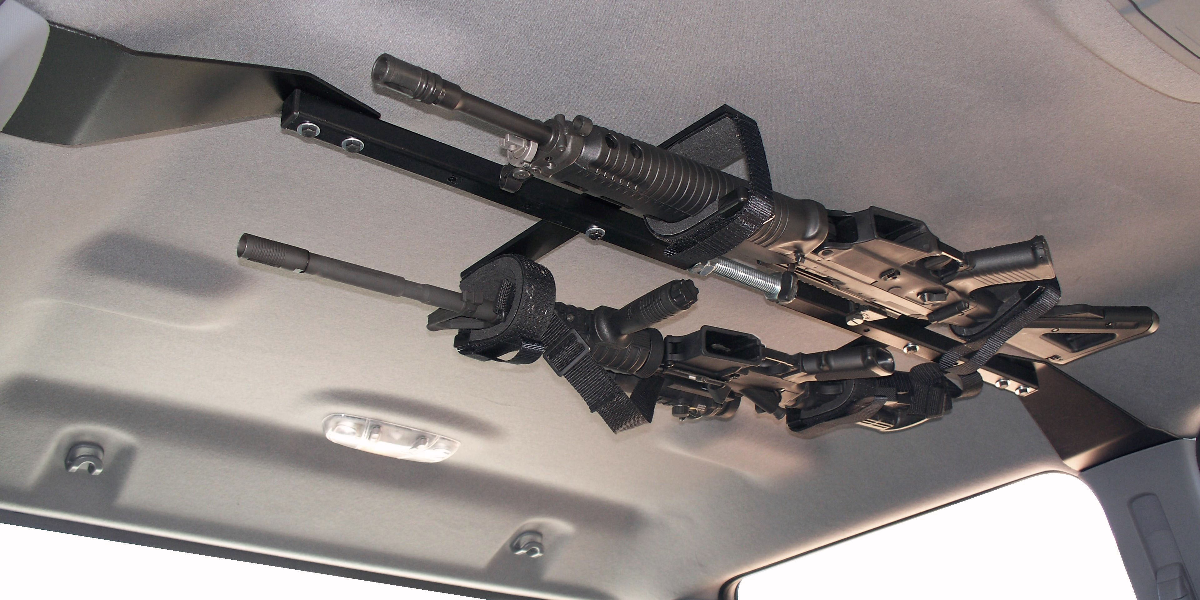 Center Lok Overhead Gunrack For Tactical Weapons Truck